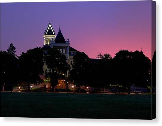 Utah State University Canvas Print - Old Main by David Andersen
