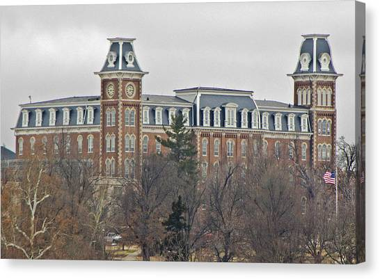 University Of Arkansas University Of Arkansas Canvas Print - Old Main by Iris Page