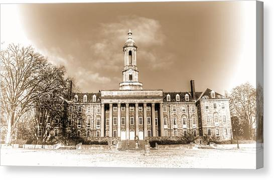 Pennsylvania State University Canvas Print - Old Main by Rusty Glessner