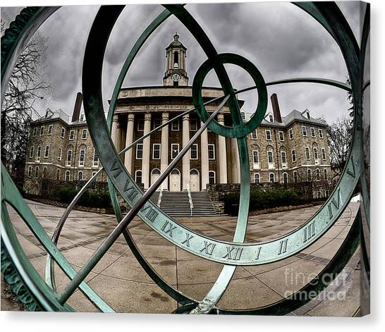 Old Main Through The Armillary Sphere Canvas Print