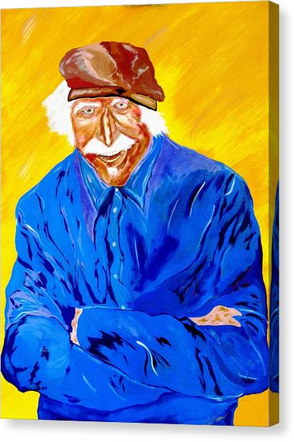 Old Man Hawk-artist Rendition Canvas Print
