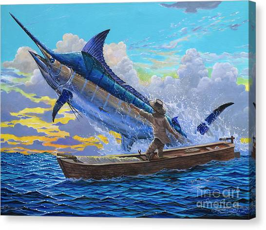 Venezuelan Canvas Print - Old Man And The Sea Off00133 by Carey Chen