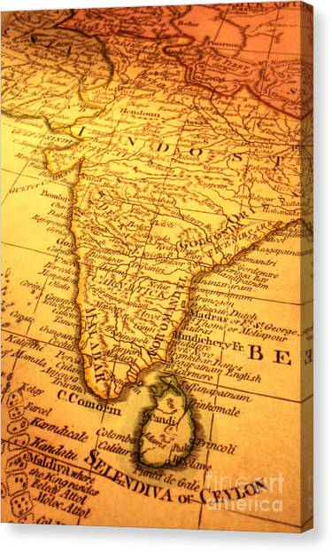 Old Map Of India And Sri Lanka by Colin and Linda McKie
