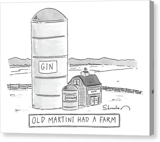 2013 Canvas Print - Old Martini Had A Farm by Danny Shanahan