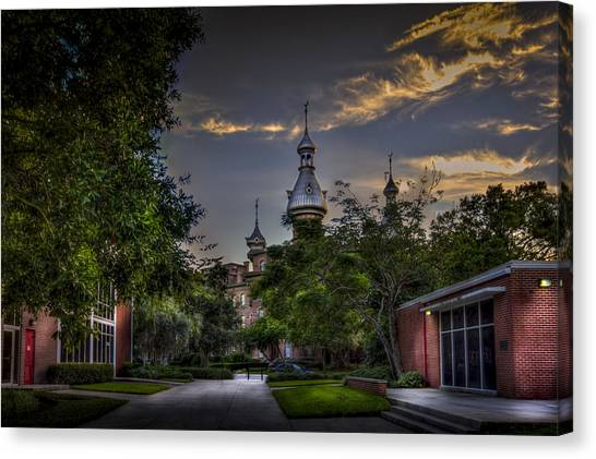 University Of Florida Canvas Print - Old Meets New by Marvin Spates
