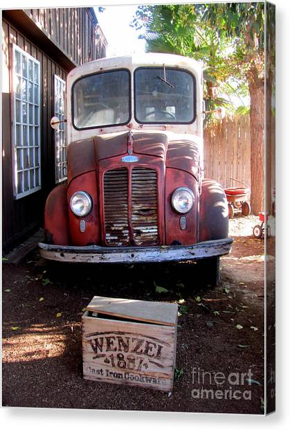 Old Milk Truck Canvas Print