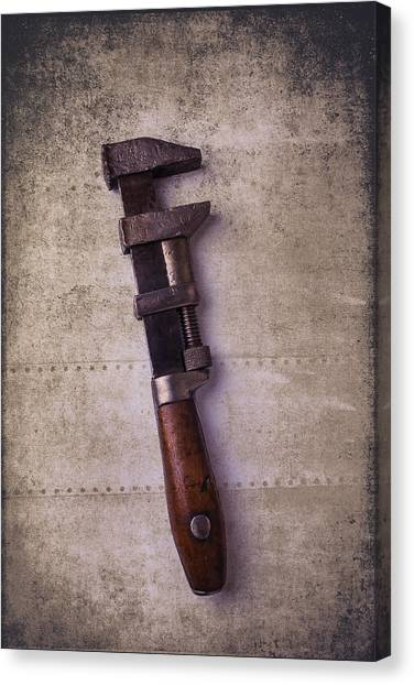 Wrenches Canvas Print - Old Monkey Wrench by Garry Gay