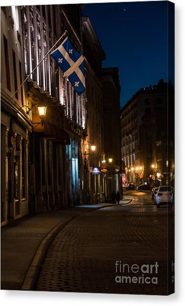 Old Montreal At Night Canvas Print