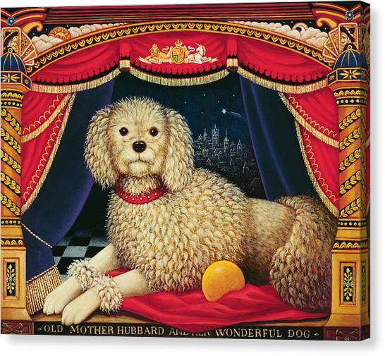 Poodles Canvas Print - Old Mother Hubbards Wonderful Dog by Frances Broomfield