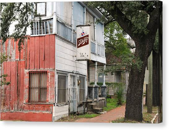 Old Neighborhood Bar Canvas Print