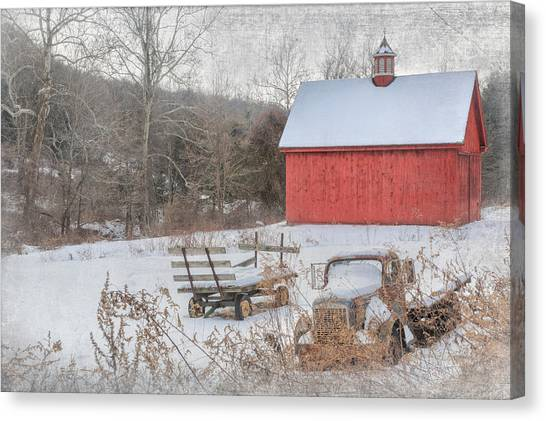 Connecticut Landscape Canvas Print - Old New England by Bill Wakeley