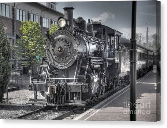 Train Conductor Canvas Print - Old Number 40 by Anthony Sacco