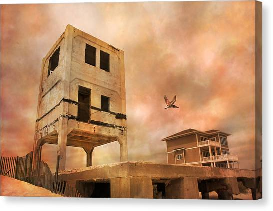 Remnants Canvas Print - Old Ocean City by Betsy Knapp