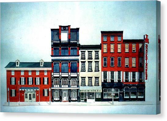 Old Original Bookbinders Canvas Print