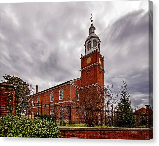 Old Otterbein Country Church Canvas Print