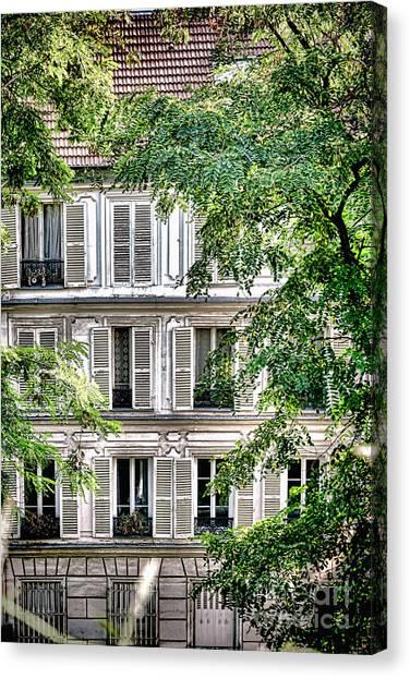 Parisian Canvas Print - Old Parisian Building by Olivier Le Queinec