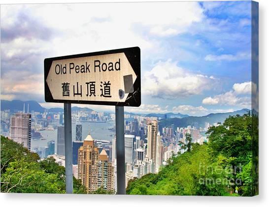 Old Peak Road  Canvas Print