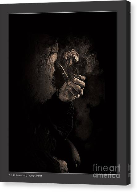 Old Pipe Smoker Canvas Print