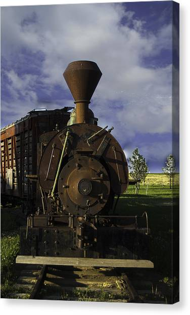 Old Prairie Train Canvas Print