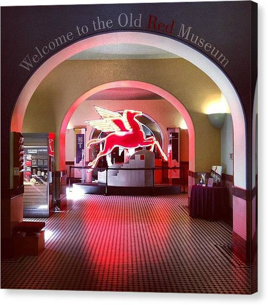 Pegasus Canvas Print - Old Red Museum Photo By Jonathan Davila by Foto Funnel