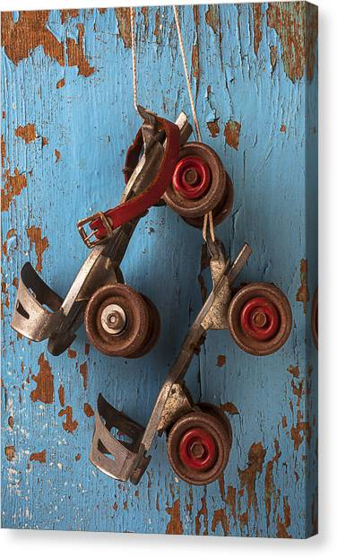 Roller Skating Canvas Print - Old Roller Skates by Garry Gay