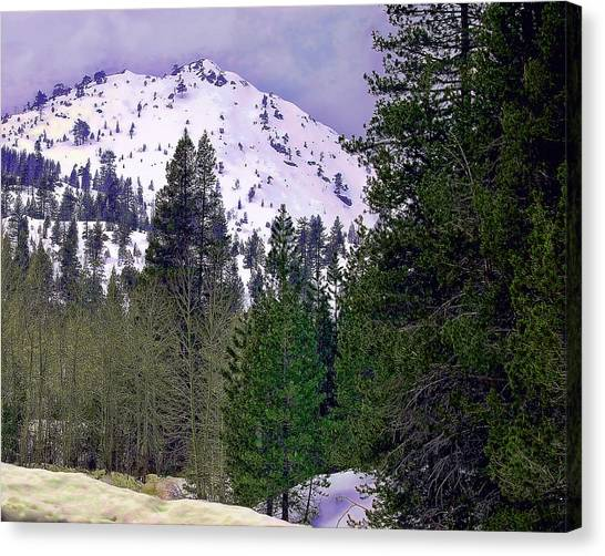 Old Route 40 Winter Canvas Print