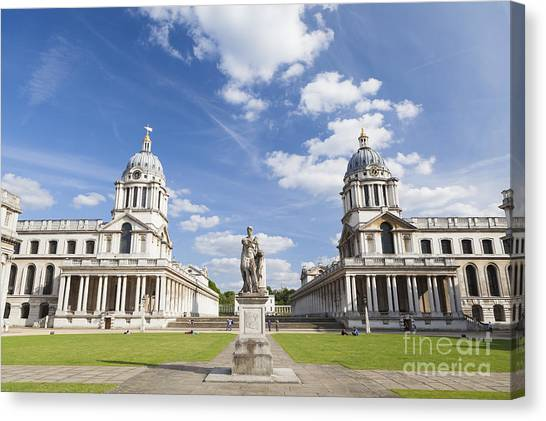 Old Royal Naval College In Greenwich Canvas Print by Roberto Morgenthaler