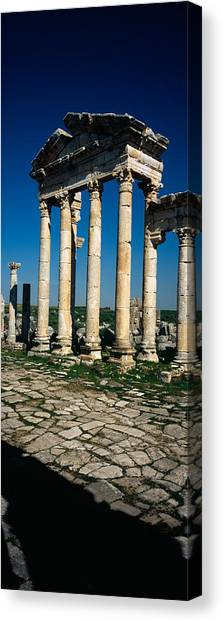 Syrian Canvas Print - Old Ruins Of A Built Structure by Panoramic Images