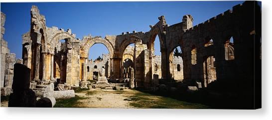 Syrian Canvas Print - Old Ruins Of A Church, St. Simeon The by Panoramic Images