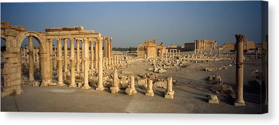 Syrian Canvas Print - Old Ruins Of A Temple, Temple Of Bel by Panoramic Images