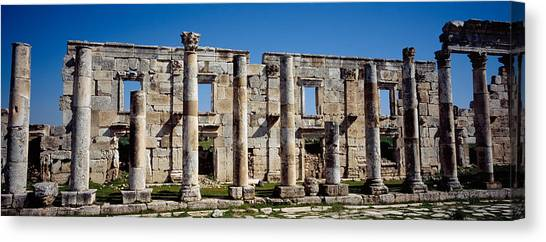 Syrian Canvas Print - Old Ruins On A Landscape, Cardo by Panoramic Images