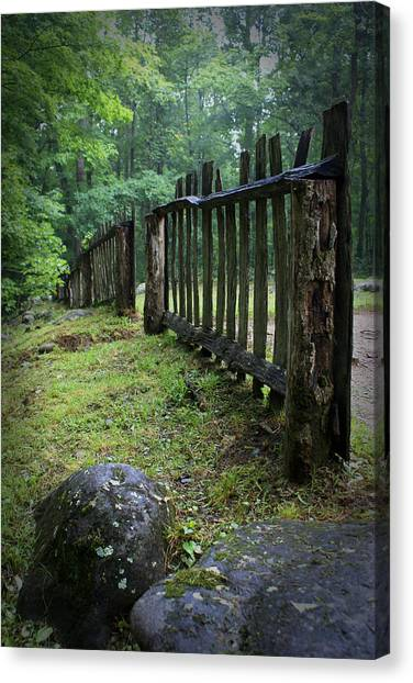 Old Rustic Fence Canvas Print