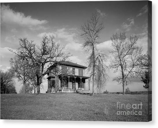 Old Rustic House On A Hill Canvas Print