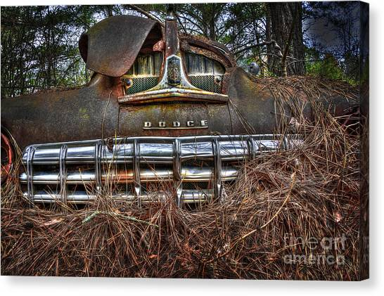 Old Rusty Dodge Canvas Print