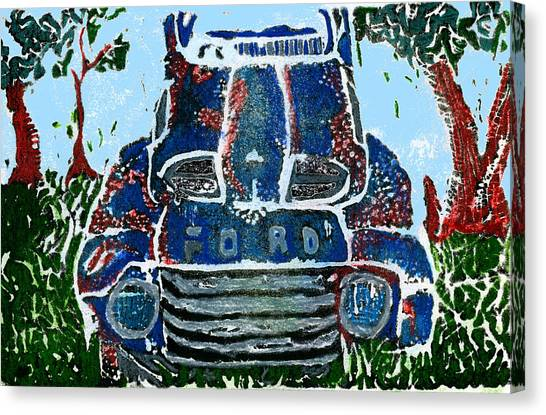 Rusty Truck Canvas Print - Old Rusty Ford by Jame Hayes