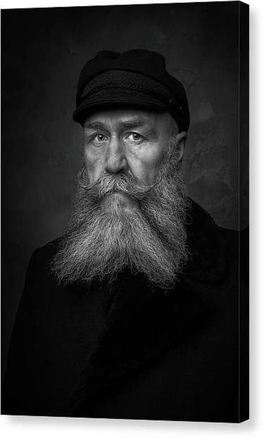 Old Man Canvas Print - Old Sailor by Gareth Jenkins
