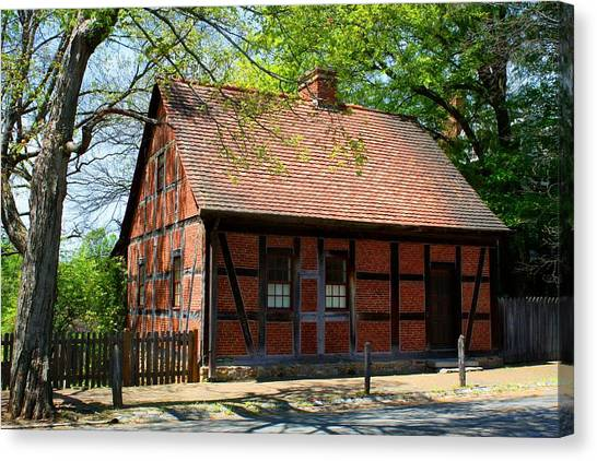 Old Salem Scene 3 Canvas Print