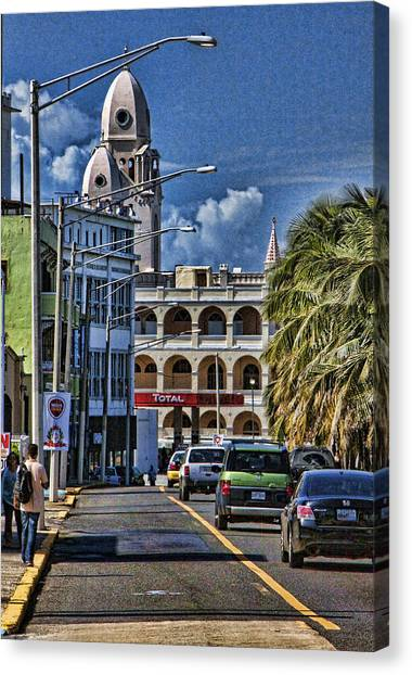 Old San Juan Cityscape Canvas Print