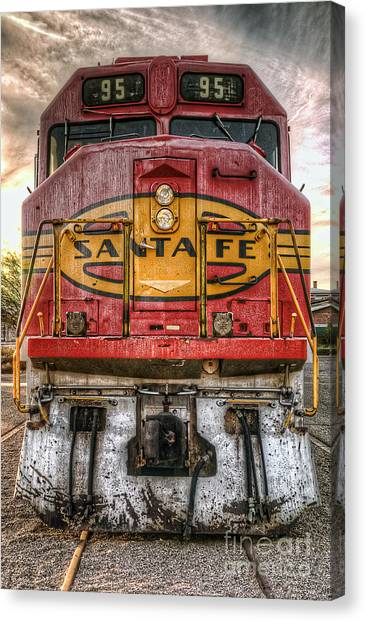 Old Santa Fe Engine Canvas Print