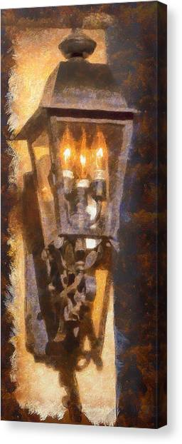 Old Santa Fe Lamp Canvas Print