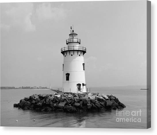 Lighthouse Canvas Print - Old Saybrook Connecticut Lighthouse by Edward Fielding