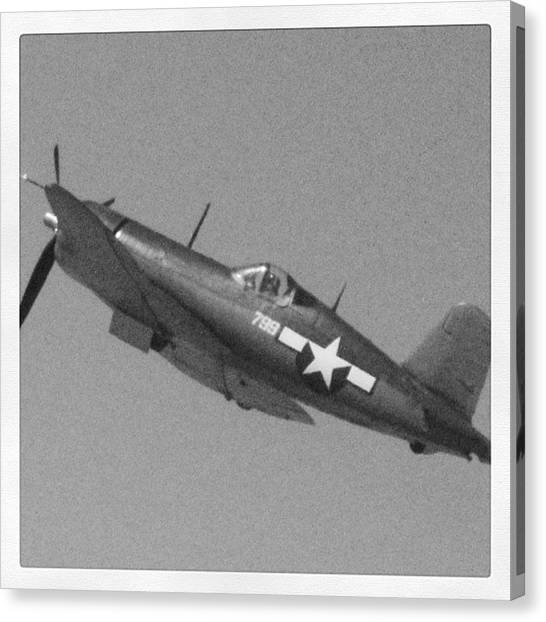Prop Planes Canvas Print - old School Airshow #airshow by Tyler Schuh