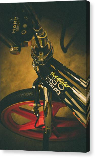 Old School Cool Bmx - 1 Canvas Print