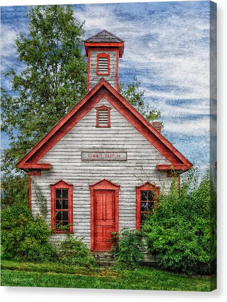 1892 Summit School House Version 3 Canvas Print