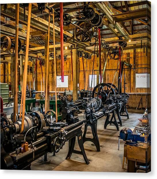 Old School Machine Shop Canvas Print