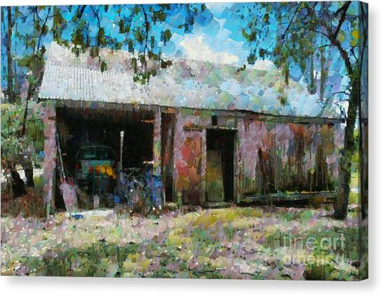 Old Shed Near Braidwood Canvas Print