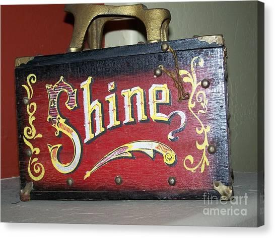 Old Shoe Shine Kit Canvas Print