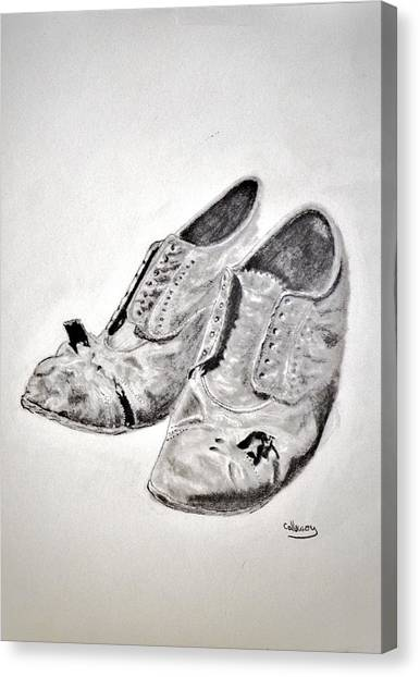 Old Shoes Canvas Print by Glenn Calloway