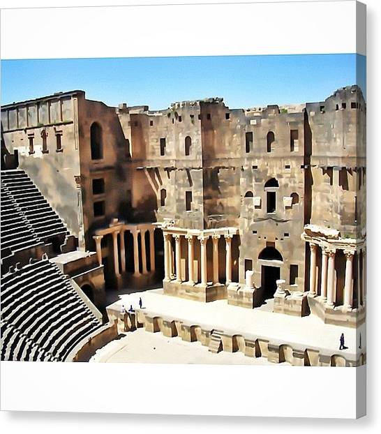 Syrian Canvas Print - Old Shot Of A Trip In Syria, Theater Of by Adriano La Naia