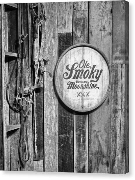 Crocks Canvas Print - Ole Smoky Moonshine by Dan Sproul